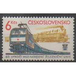 Tchécoslovaquie - 1982 - No 2480 - Chemins de fer