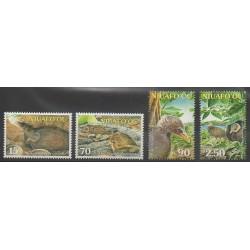 Tonga - Niuafo'ou - 2002 - No 292/295 - Espèces menacées - WWF - Oiseaux