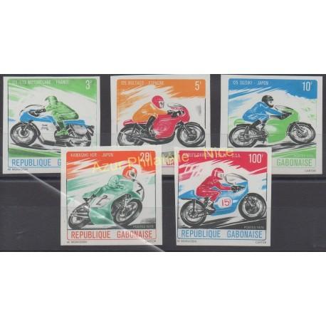Gabon - 1976 - Nb 360/364 ND - Motorcycles