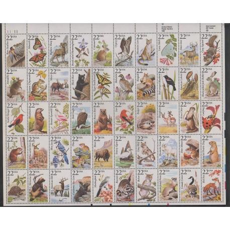 États-Unis - 1987 - No 1718/1767 - Animaux - Oiseaux - Mammifères