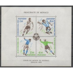 Monaco - Blocks and sheets - 1982 - Nb BF21 - Soccer World Cup