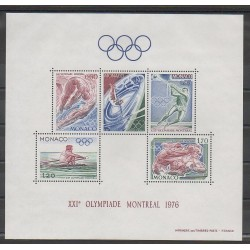 Monaco - Blocs et feuillets - 1976 - No BF11 - Jeux Olympiques d'été