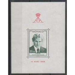 Monaco - Blocs et feuillets - 1979 - No BF16 - Royauté