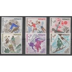 Monaco - 1980 - No 1218/1223 - Jeux Olympiques d'été - Jeux olympiques d'hiver