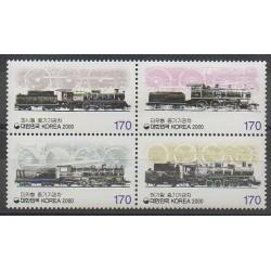South Korea - 2000 - Nb 1908/1911 - Trains