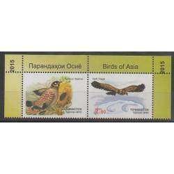 Tadjikistan - 2015 - No 520/521 - Oiseaux