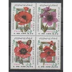 Iran - 1986 - Nb 1961/1964 - Flowers