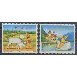 Suisse - 2005 - No 1849/1850 - Dessins Animés - BD