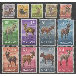 Malawi - 1971 - No 147/159 - Mammifères