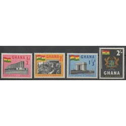 Ghana - 1958 - Nb 17/20 - Monuments - Coats of arms