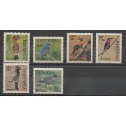 Rhodésie du Sud - 1971 - No 202/207 - Oiseaux