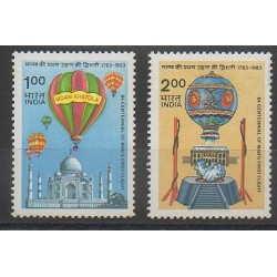 Inde - 1983 - No 784/785 - Ballons - Dirigeables