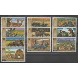 Rwanda - 1972 - No 451/460 - Mammifères