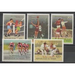 Niger - 1976 - No 364/368 - Jeux Olympiques d'été