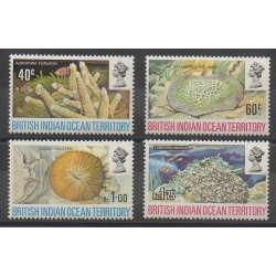 British Indian Ocean Territory - 1972 - Nb 44/47 - Sea animals