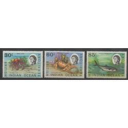 Océan Indien - 1970 - No 36/38 - Animaux marins