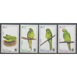 Maurice - 2003 - No 1005/1008 - Oiseaux - Espèces menacées - WWF