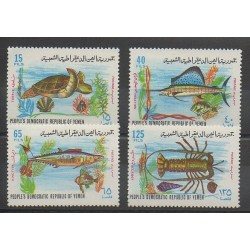 Yemen - 1972 - Nb 122/125 - Sea animals - Reptils