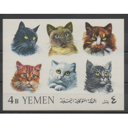 Yemen - Arab republic - 1965 - Nb BF26 - Cats