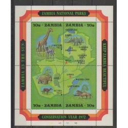 Zambie - 1972 - No BF2 - Mammifères - Espèces menacées - WWF