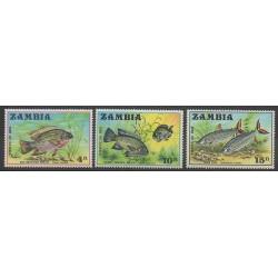 Zambia - 1971 - Nb 74/76 - Sea animals