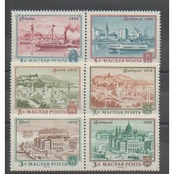Hungary - 1972 - Nb 2265/2270 - Monuments