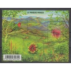 Nouvelle-Calédonie - 2014 - No F1223 - Oiseaux - Fleurs