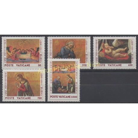 Vatican - 1990 - No 886/890 - Noël