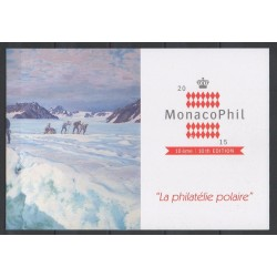 Monaco - Blocks and sheets - 2015 - Nb F3008 - Encart - Exhibition - Polar regions