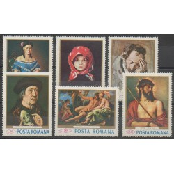 Roumanie - 1968 - No 2371/2376 - Peinture