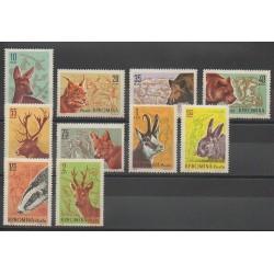 Roumanie - 1961 - No 1781/1790 - Mammifères