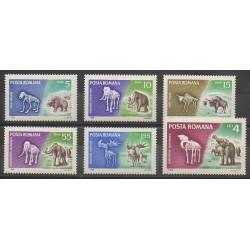 Roumanie - 1966 - No 2267/2272 - Animaux préhistoriques
