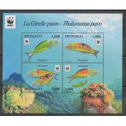 Monaco - Blocks and sheets - 2016 - Nb F3056 - Sea animals - Endangered species - WWF