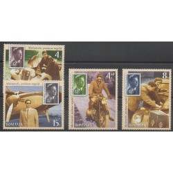Romania - 2016 - Nb 6078/6081 - Transport - Stamps on stamps