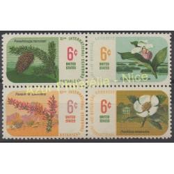 États-Unis - 1969 - No 879/882 - Flore