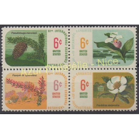 United States - 1969 - Nb 879/882 - Flora