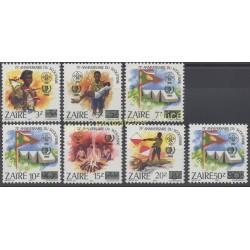 Zaire - 1985 - Nb 1218/1224 - Scouts