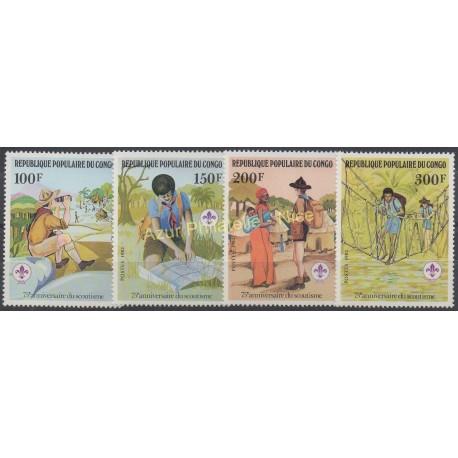 Congo (République du) - 1982 - No 663/666 - Scouts