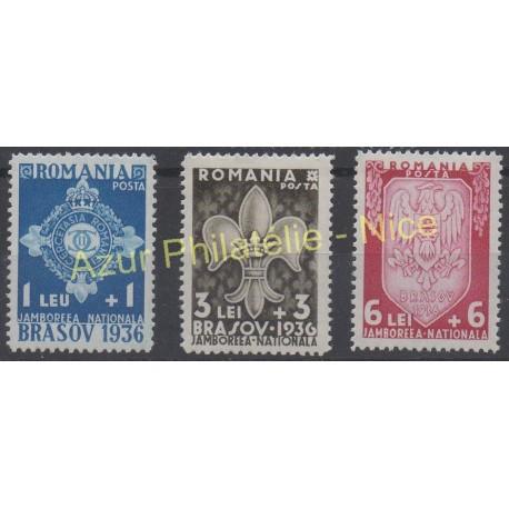 Romania - 1936 - Nb 505/507 - Scouts