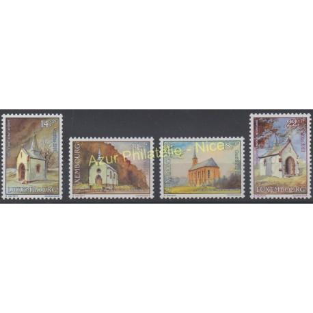 Luxembourg - 1991 - No 1209/1212 - Eglises