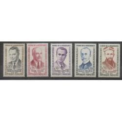 France - Poste - 1960 - No 1248/1252 - Célébrités - Seconde Guerre Mondiale
