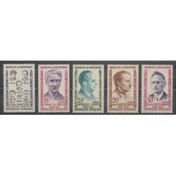 France - Poste - 1959 - No 1198/1202 - Célébrités - Seconde Guerre Mondiale
