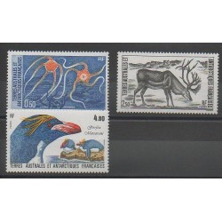 TAAF - 1987 - No 122/124 - Animaux marins - Oiseaux - Mammifères