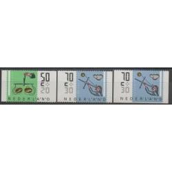 Pays-Bas - 1986 - No 1258a-1261a-1261b - Sciences et Techniques