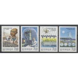 Suède - 1988 - No 1492/1495 - Célébrités - Sciences et Techniques