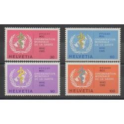 Suisse - 1975 - No S446/S449 - Santé ou Croix-Rouge