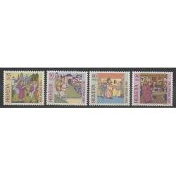 Swiss - 1989 - Nb 1319/1322 - Various Historics Themes
