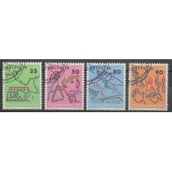 Suisse - 1988 - No 1309/1312 - Enfance - Oblitéré