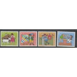 Suisse - 1984 - No 1213/1216 - Enfance