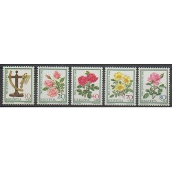 Swiss - 1982 - Nb 1165/1169 - Roses